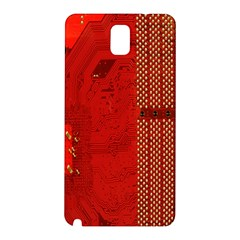 Computer Texture Red Motherboard Circuit Samsung Galaxy Note 3 N9005 Hardshell Back Case