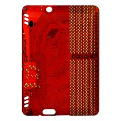 Computer Texture Red Motherboard Circuit Kindle Fire HDX Hardshell Case