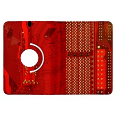 Computer Texture Red Motherboard Circuit Kindle Fire HDX Flip 360 Case