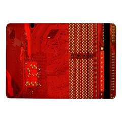 Computer Texture Red Motherboard Circuit Samsung Galaxy Tab Pro 10.1  Flip Case