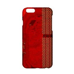 Computer Texture Red Motherboard Circuit Apple iPhone 6/6S Hardshell Case