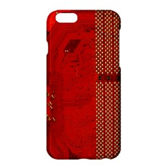 Computer Texture Red Motherboard Circuit Apple iPhone 6 Plus/6S Plus Hardshell Case