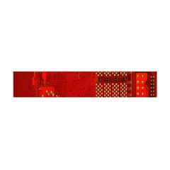Computer Texture Red Motherboard Circuit Flano Scarf (Mini)
