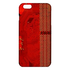 Computer Texture Red Motherboard Circuit iPhone 6 Plus/6S Plus TPU Case