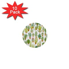 Flowers Pattern 1  Mini Buttons (10 Pack)