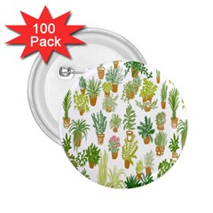 Flowers Pattern 2 25  Buttons (100 Pack)