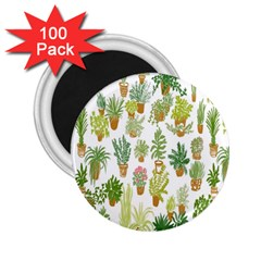 Flowers Pattern 2.25  Magnets (100 pack)