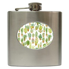Flowers Pattern Hip Flask (6 Oz)