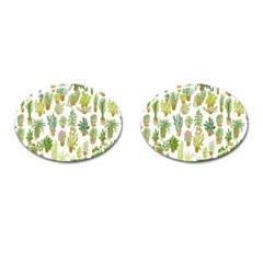 Flowers Pattern Cufflinks (Oval)