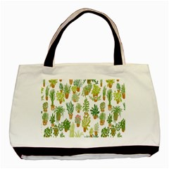 Flowers Pattern Basic Tote Bag (two Sides)