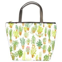 Flowers Pattern Bucket Bags