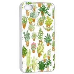 Flowers Pattern Apple iPhone 4/4s Seamless Case (White)