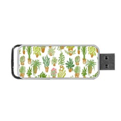 Flowers Pattern Portable USB Flash (One Side)