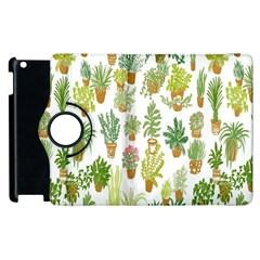 Flowers Pattern Apple iPad 2 Flip 360 Case