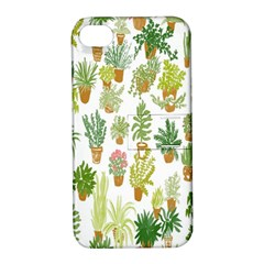 Flowers Pattern Apple iPhone 4/4S Hardshell Case with Stand