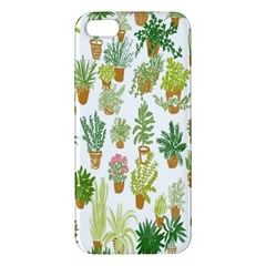 Flowers Pattern Apple Iphone 5 Premium Hardshell Case