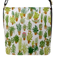 Flowers Pattern Flap Messenger Bag (S)