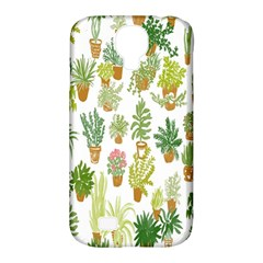 Flowers Pattern Samsung Galaxy S4 Classic Hardshell Case (PC+Silicone)
