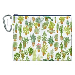 Flowers Pattern Canvas Cosmetic Bag (XXL)