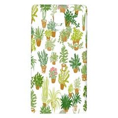 Flowers Pattern Galaxy Note 4 Back Case