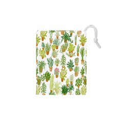 Flowers Pattern Drawstring Pouches (XS)