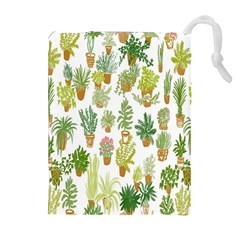 Flowers Pattern Drawstring Pouches (extra Large)