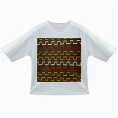 Fabric Texture Vintage Retro 70s Zig Zag Pattern Infant/Toddler T-Shirts