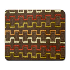 Fabric Texture Vintage Retro 70s Zig Zag Pattern Large Mousepads