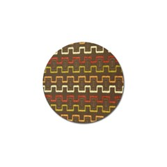 Fabric Texture Vintage Retro 70s Zig Zag Pattern Golf Ball Marker