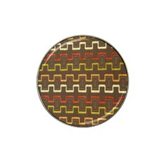 Fabric Texture Vintage Retro 70s Zig Zag Pattern Hat Clip Ball Marker