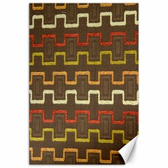 Fabric Texture Vintage Retro 70s Zig Zag Pattern Canvas 20  X 30