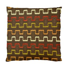 Fabric Texture Vintage Retro 70s Zig Zag Pattern Standard Cushion Case (Two Sides)