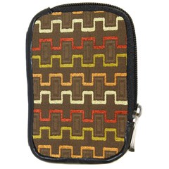 Fabric Texture Vintage Retro 70s Zig Zag Pattern Compact Camera Cases