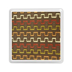 Fabric Texture Vintage Retro 70s Zig Zag Pattern Memory Card Reader (square)