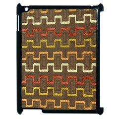 Fabric Texture Vintage Retro 70s Zig Zag Pattern Apple iPad 2 Case (Black)