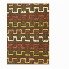 Fabric Texture Vintage Retro 70s Zig Zag Pattern Large Garden Flag (Two Sides)