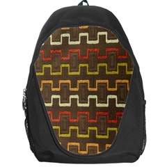 Fabric Texture Vintage Retro 70s Zig Zag Pattern Backpack Bag