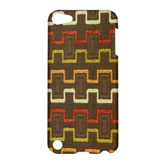 Fabric Texture Vintage Retro 70s Zig Zag Pattern Apple iPod Touch 5 Hardshell Case