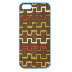 Fabric Texture Vintage Retro 70s Zig Zag Pattern Apple Seamless iPhone 5 Case (Color)