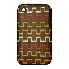 Fabric Texture Vintage Retro 70s Zig Zag Pattern iPhone 3S/3GS