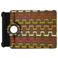 Fabric Texture Vintage Retro 70s Zig Zag Pattern Kindle Fire HD 7