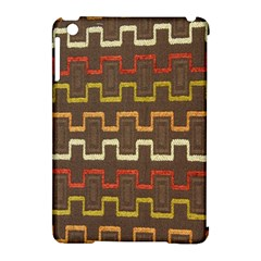 Fabric Texture Vintage Retro 70s Zig Zag Pattern Apple iPad Mini Hardshell Case (Compatible with Smart Cover)