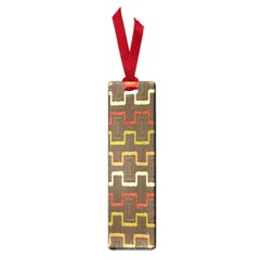 Fabric Texture Vintage Retro 70s Zig Zag Pattern Small Book Marks