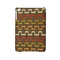 Fabric Texture Vintage Retro 70s Zig Zag Pattern iPad Mini 2 Hardshell Cases