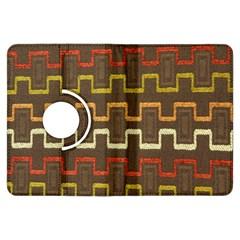 Fabric Texture Vintage Retro 70s Zig Zag Pattern Kindle Fire HDX Flip 360 Case