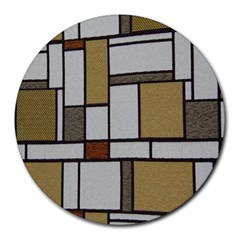 Fabric Textures Fabric Texture Vintage Blocks Rectangle Pattern Round Mousepads