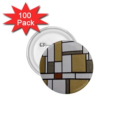 Fabric Textures Fabric Texture Vintage Blocks Rectangle Pattern 1.75  Buttons (100 pack)