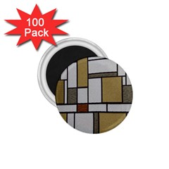 Fabric Textures Fabric Texture Vintage Blocks Rectangle Pattern 1.75  Magnets (100 pack)