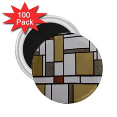 Fabric Textures Fabric Texture Vintage Blocks Rectangle Pattern 2.25  Magnets (100 pack)