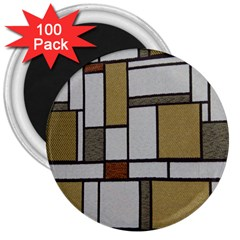 Fabric Textures Fabric Texture Vintage Blocks Rectangle Pattern 3  Magnets (100 pack)